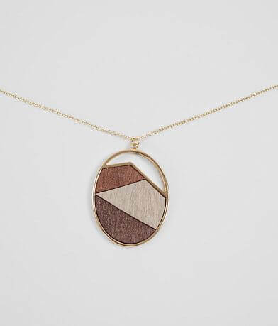 BKE Wood Pendant Necklace
