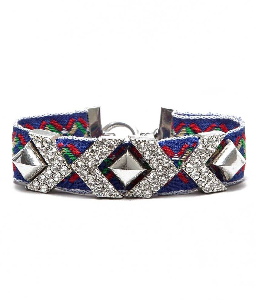 BKE Embroidered Bracelet front view
