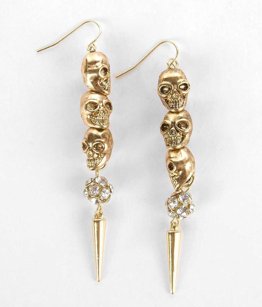 Daytrip Skull Earring front view
