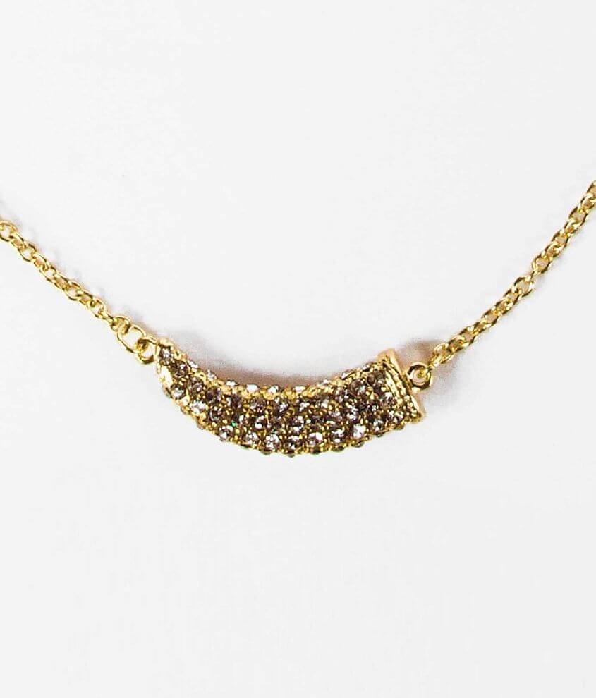 BKE Glitz Horn Necklace front view