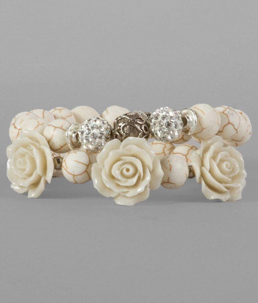 BKE Marble Bracelet Set front view