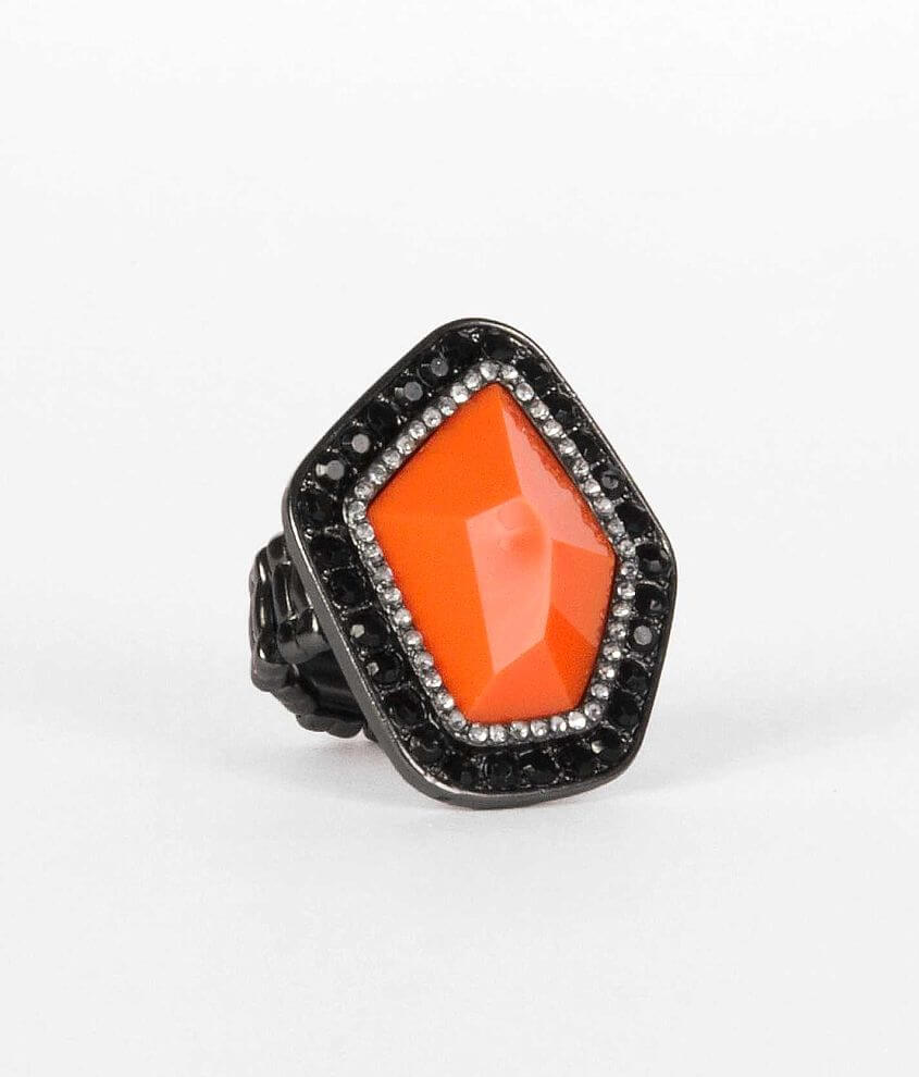 BKE Neon Chunky Stone Ring front view