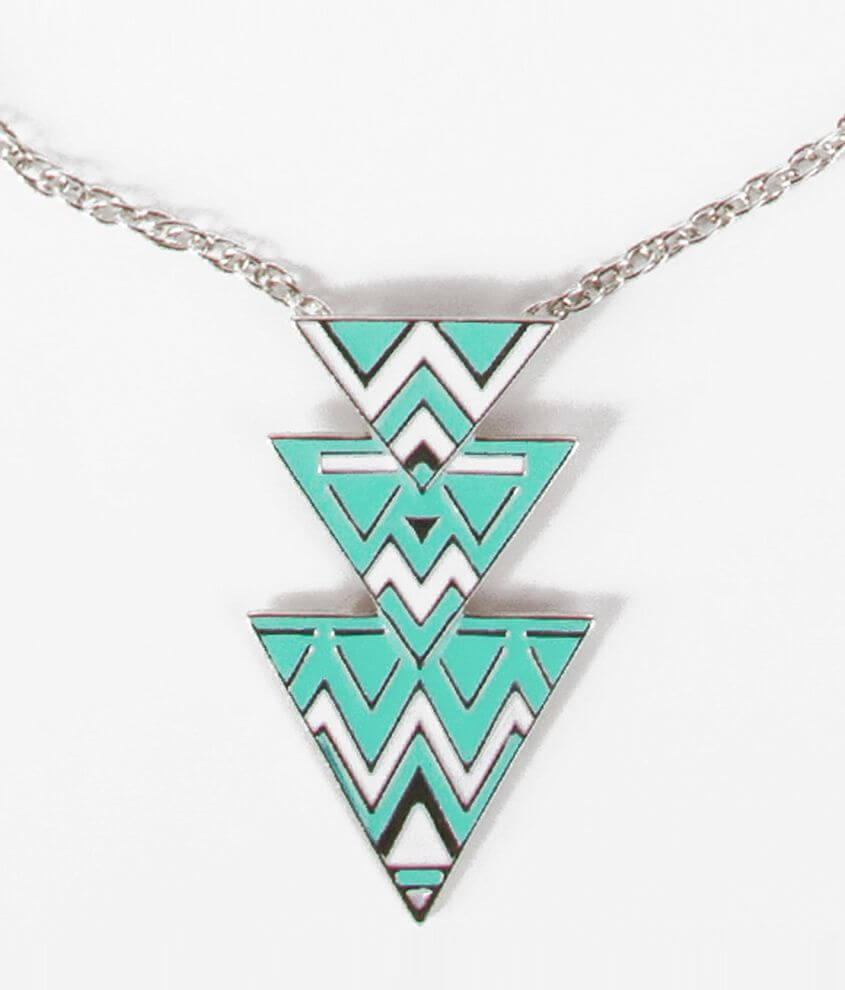 BKE Triangle Pendant Necklace front view