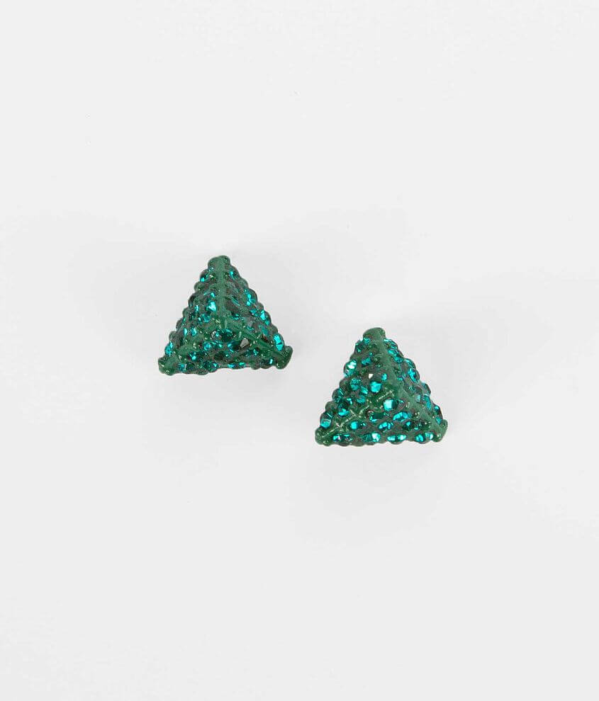 BKE Glitz Pyramid Earring front view