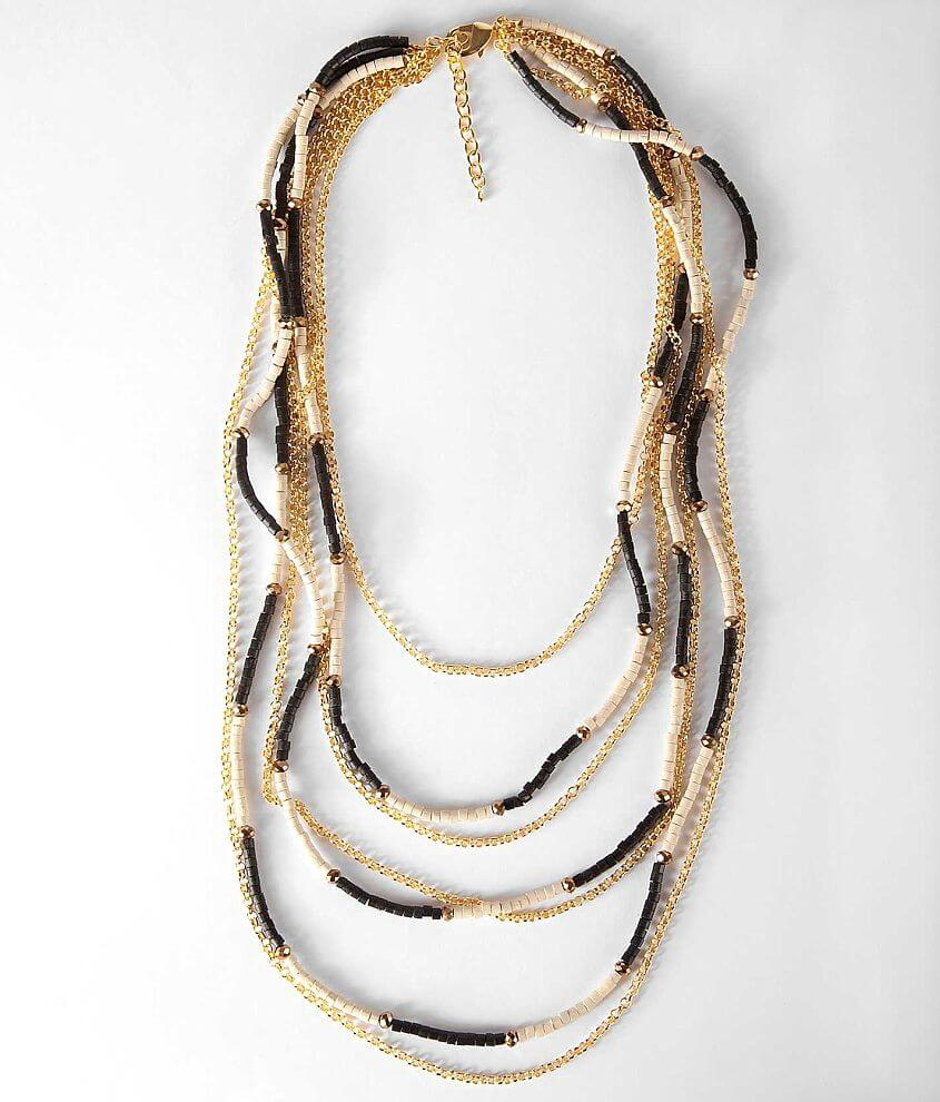 BKE Bead & Chain Necklace front view