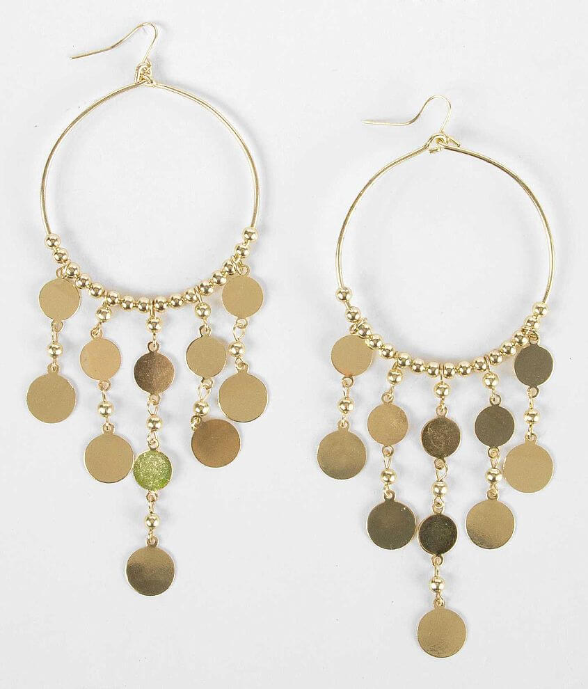 BKE Circle Dangle Earring front view