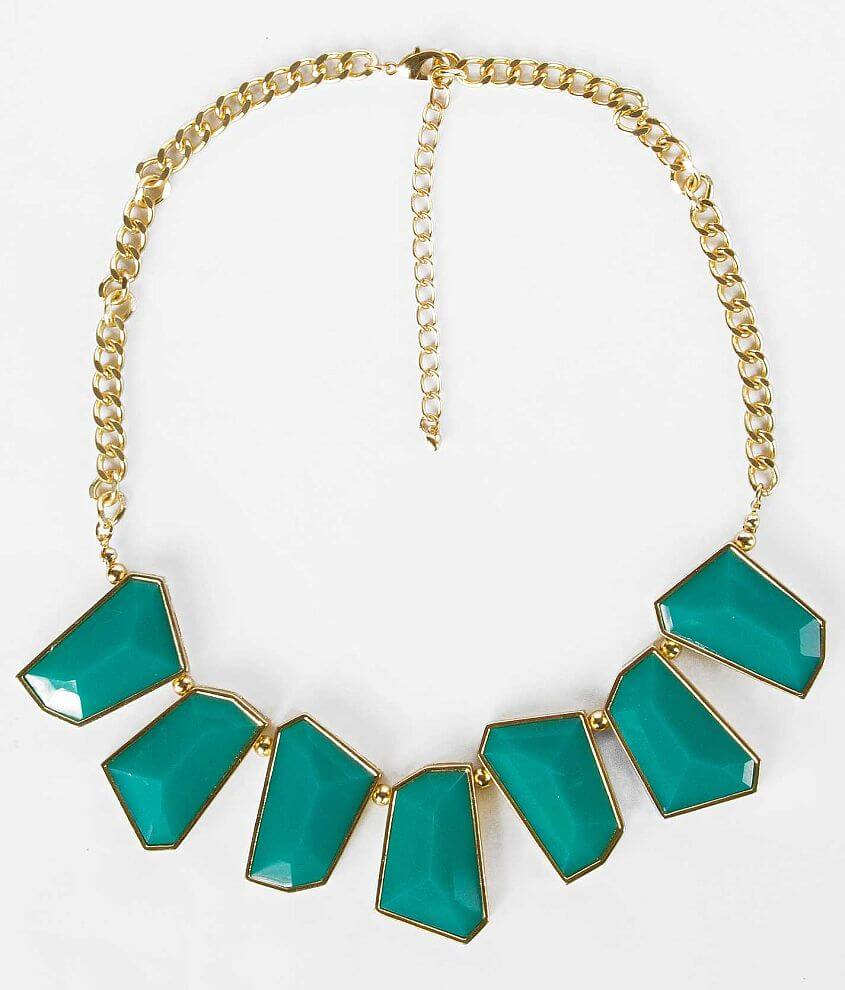 BKE Geometric Statement Necklace front view