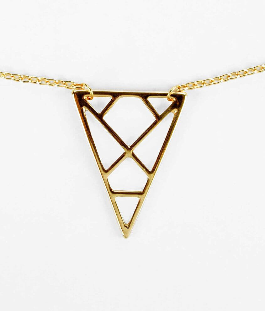 Daytrip Triangle Necklace front view