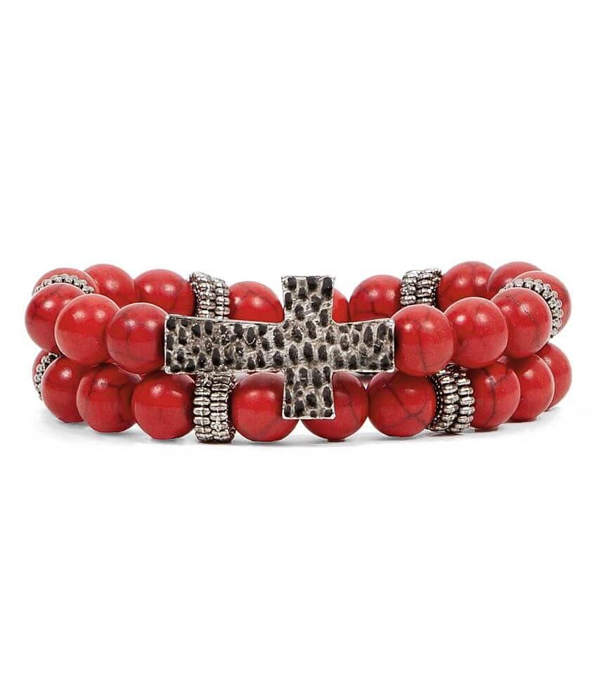 BKE Cross Bracelet Set front view