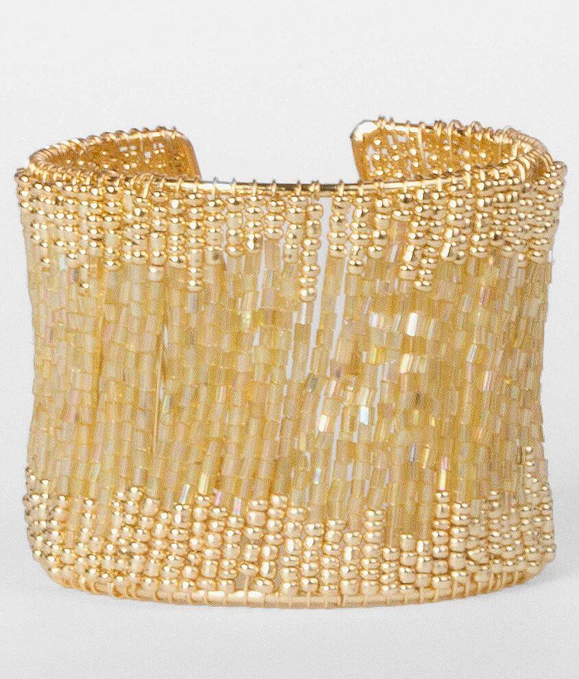 BKE Seed Bead Cuff Bracelet front view