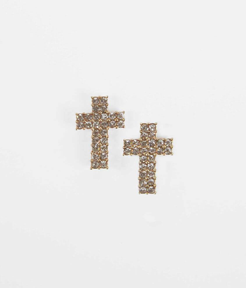 Daytrip Cross Earring front view