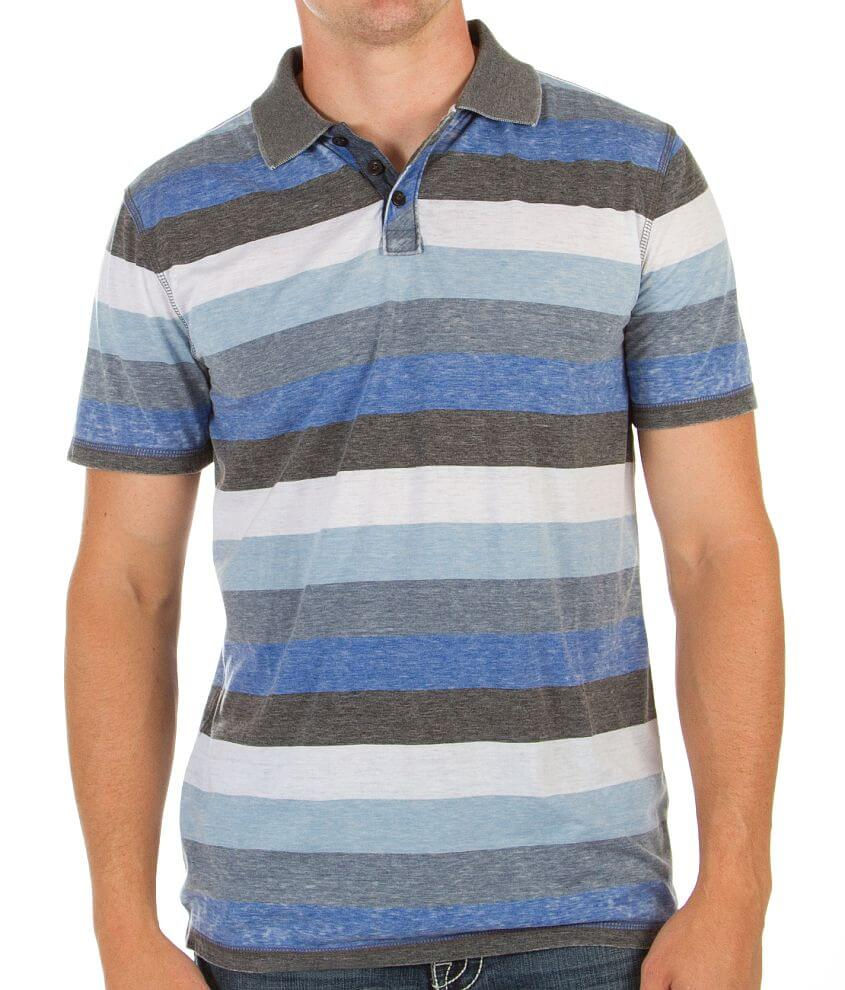 Shouthouse Striped Polo front view