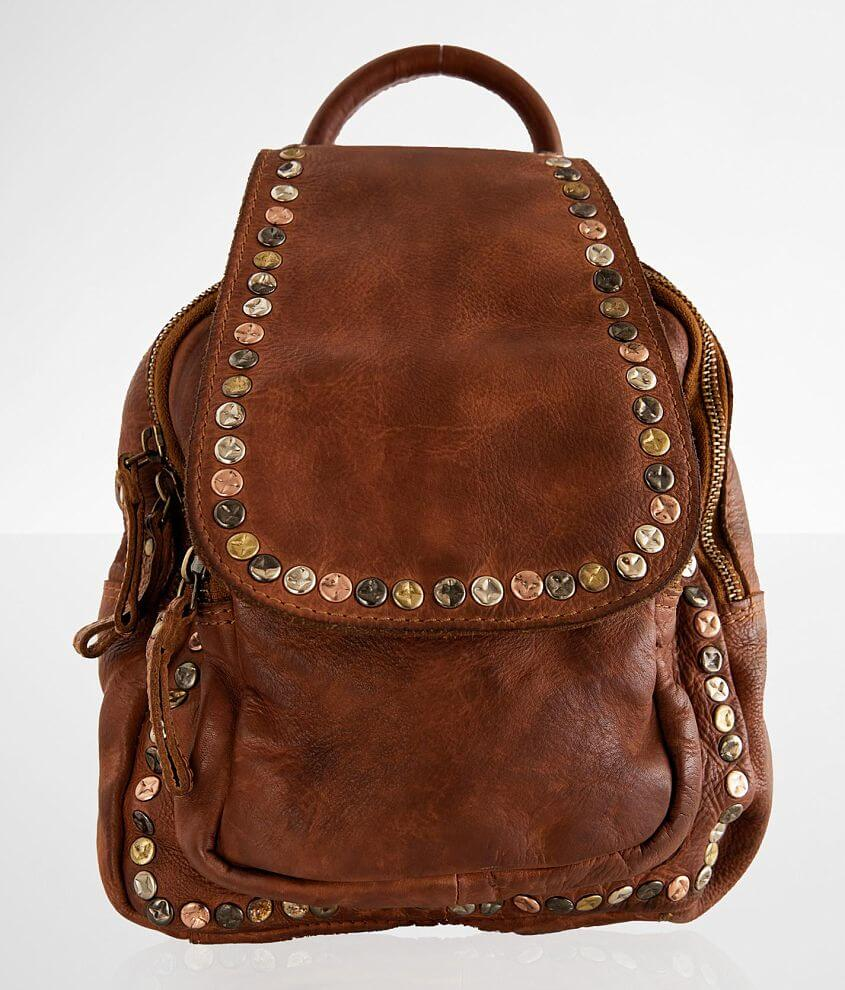 Civico 9 Studded Leather Mini Backpack front view