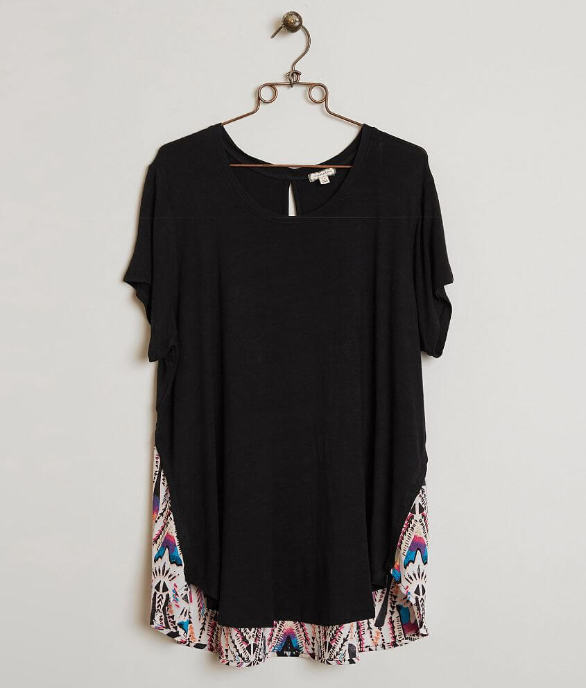 Eyeshadow Pieced Top - Plus Size Only front view
