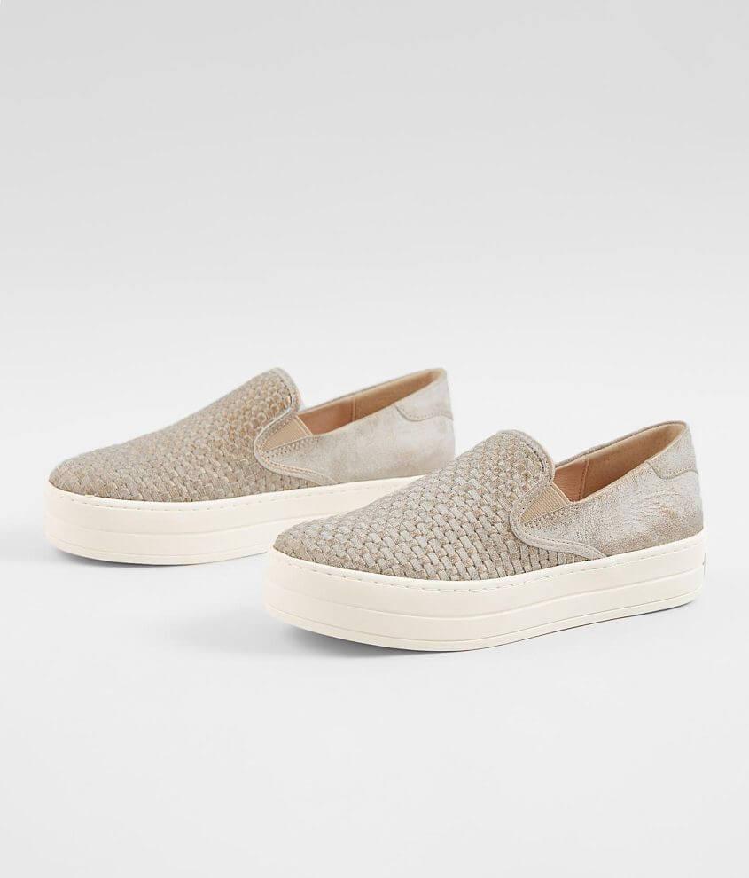 J/Slides Halsey Slip On Suede Shoe front view