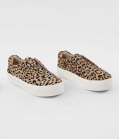 J/Slides Heidi Leopard Slip On Leather Sneaker