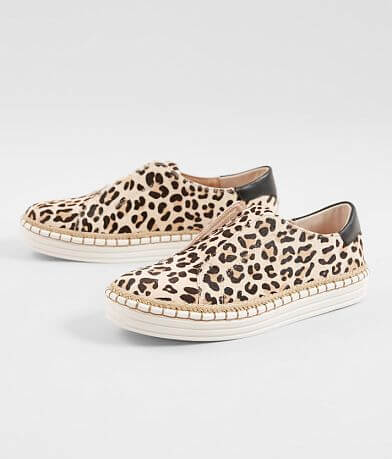 J/Slides Karla Leopard Leather Shoe