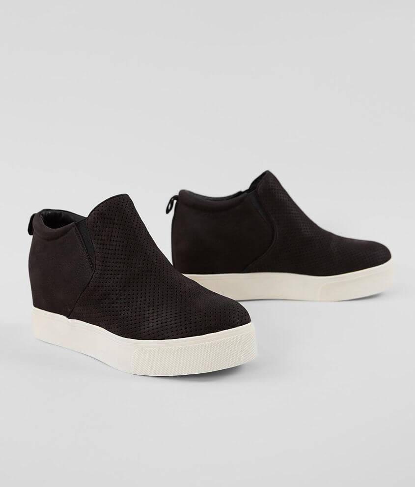 J/Slides Sallie Nubuck Leather Wedge Shoe front view