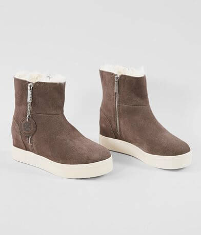 J/Slides Wallace Waterproof Suede Wedge Boot