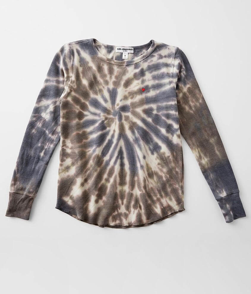 Girls - Sub Urban Riot Tie Dye Thermal Top front view