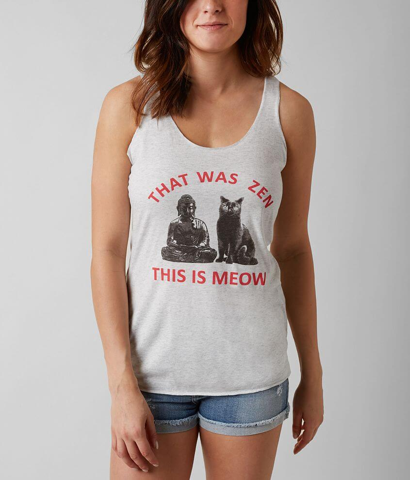 Sub Urban Riot That Was Zen This Is Meow Tank Top front view