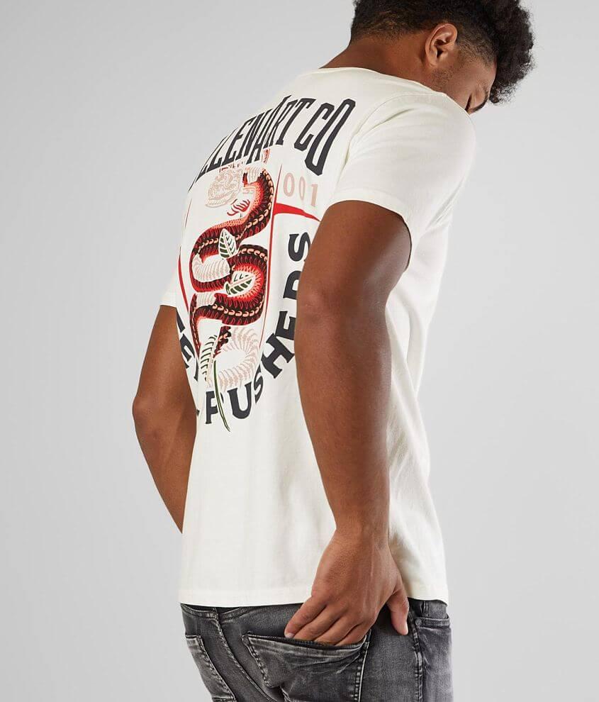 Sullen Snake Skeleton T-Shirt front view