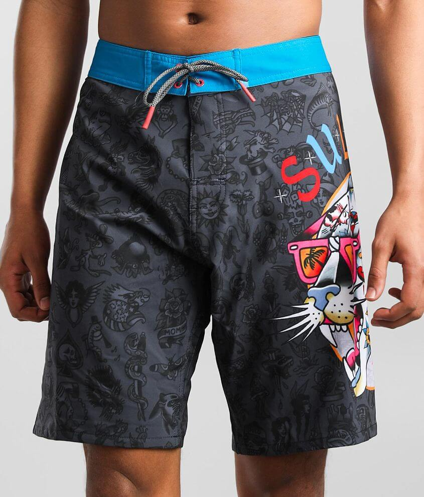 Sullen Party Panther Stretch Boardshort front view