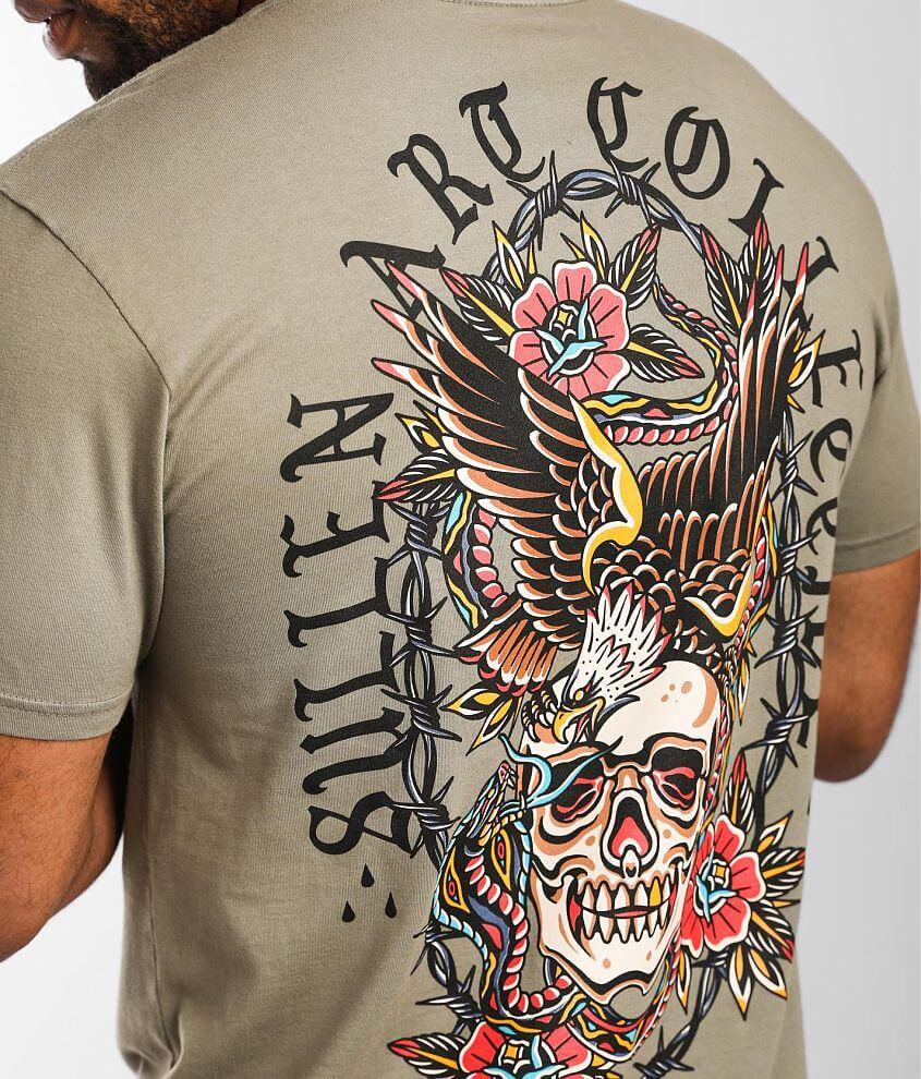 Sullen Trad Battle T-Shirt front view