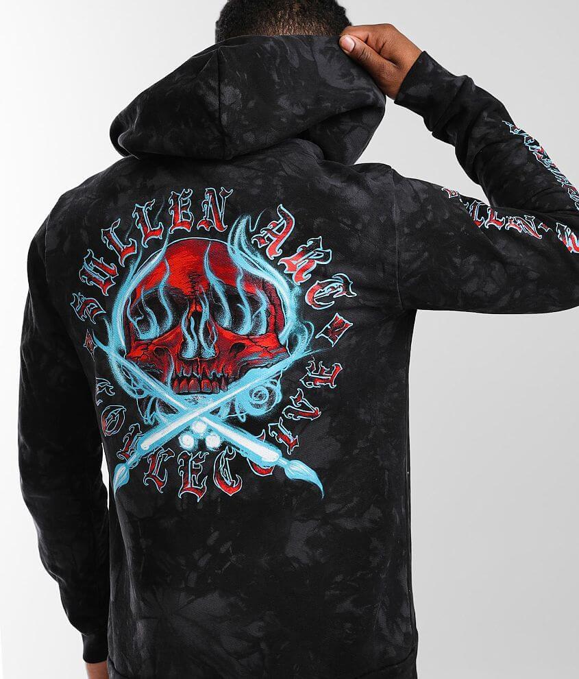 Sullen Ghost Badge Hooded Sweatshirt front view