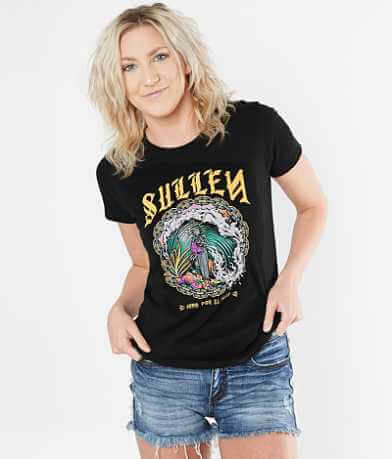 Sullen Angels Por El Surf T-Shirt