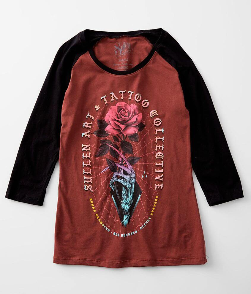 Sullen Angels Dunning Rose T-Shirt front view