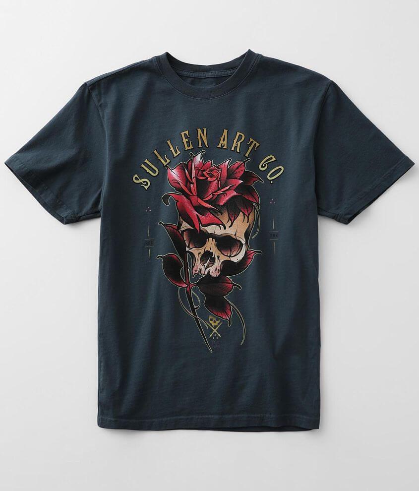 Sullen Angels Jake Skull T-Shirt front view