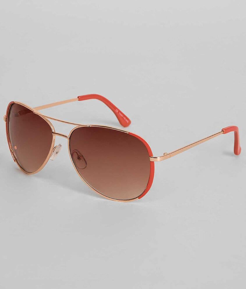 BKE Colored Aviator Sunglasses front view