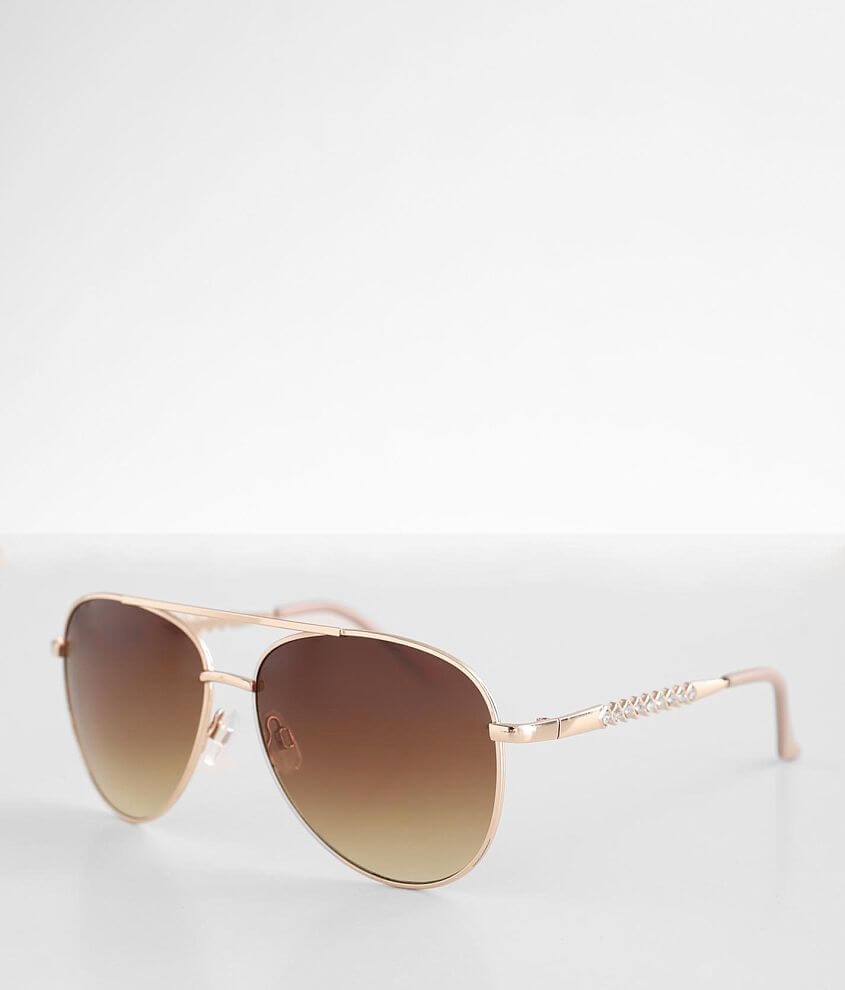BKE Glitz Aviator Sunglasses front view