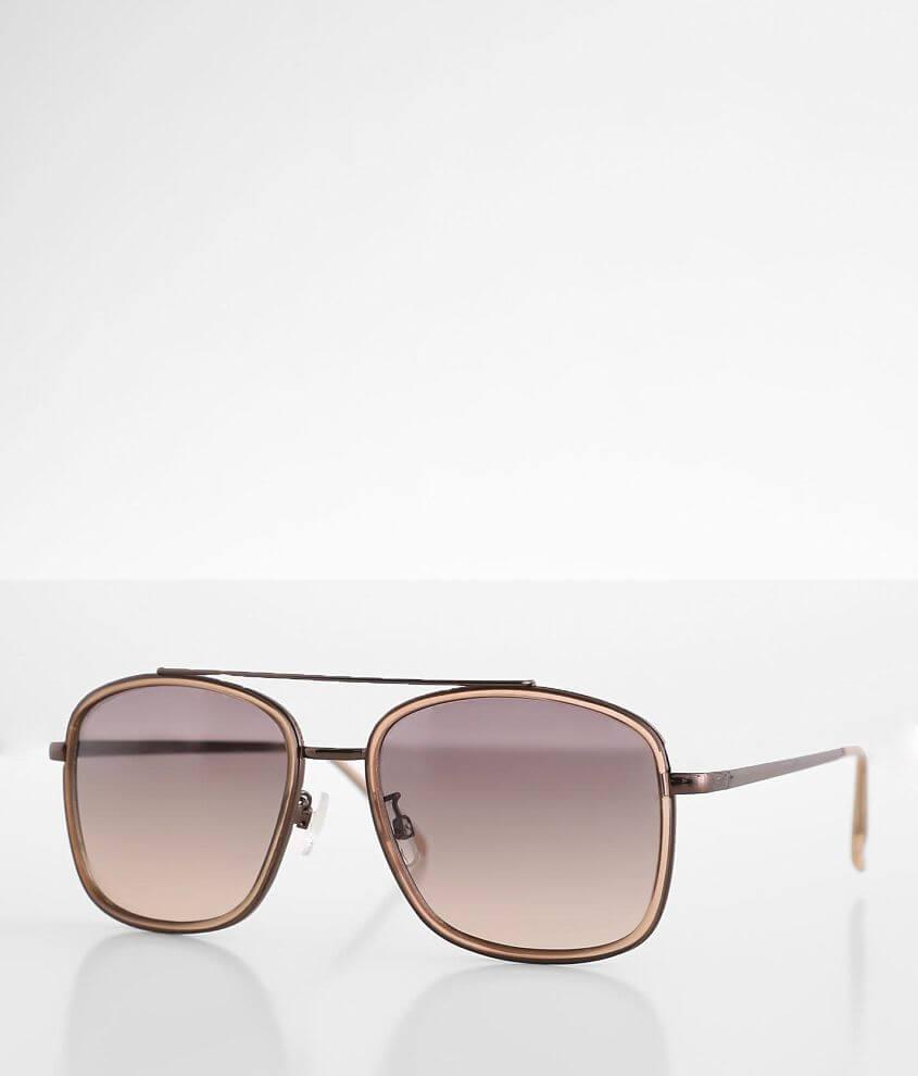 BKE Browbar Aviator Sunglasses front view