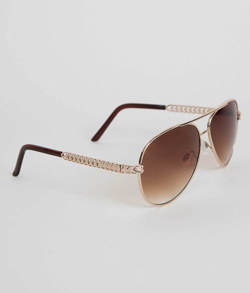 BKE Heart Aviator Sunglasses front view