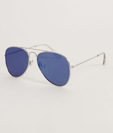 BKE Flat Aviator Sunglasses