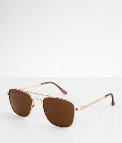 BKE Gold Tone Browbar Sunglasses