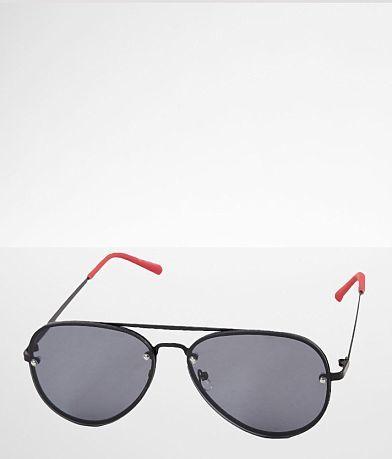 BKE Contrast Stem Aviator Sunglasses