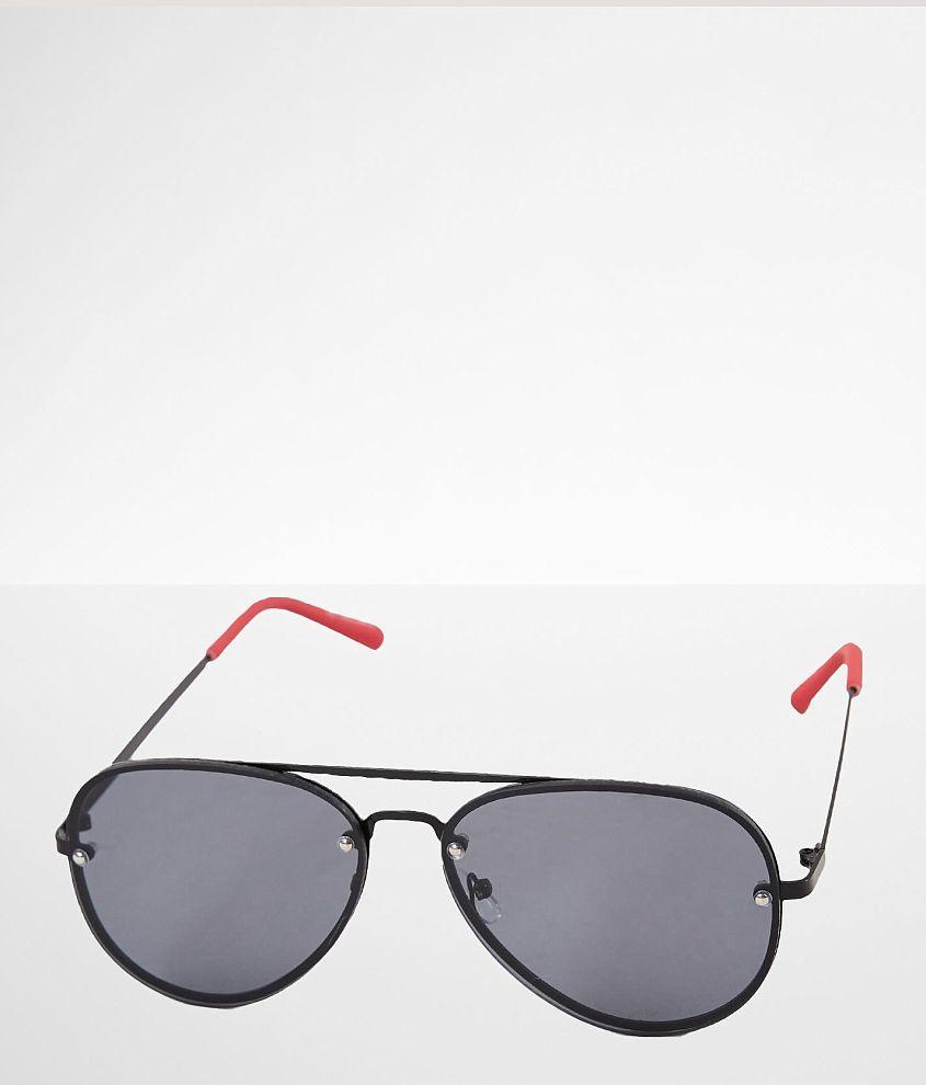 BKE Contrast Stem Aviator Sunglasses front view