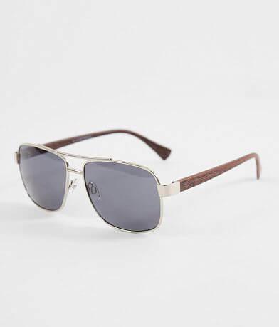 BKE Wood Stem Aviator Sunglasses