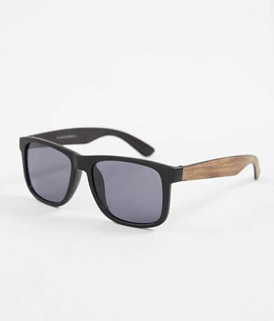 BKE Textured Woodgrain Sunglasses