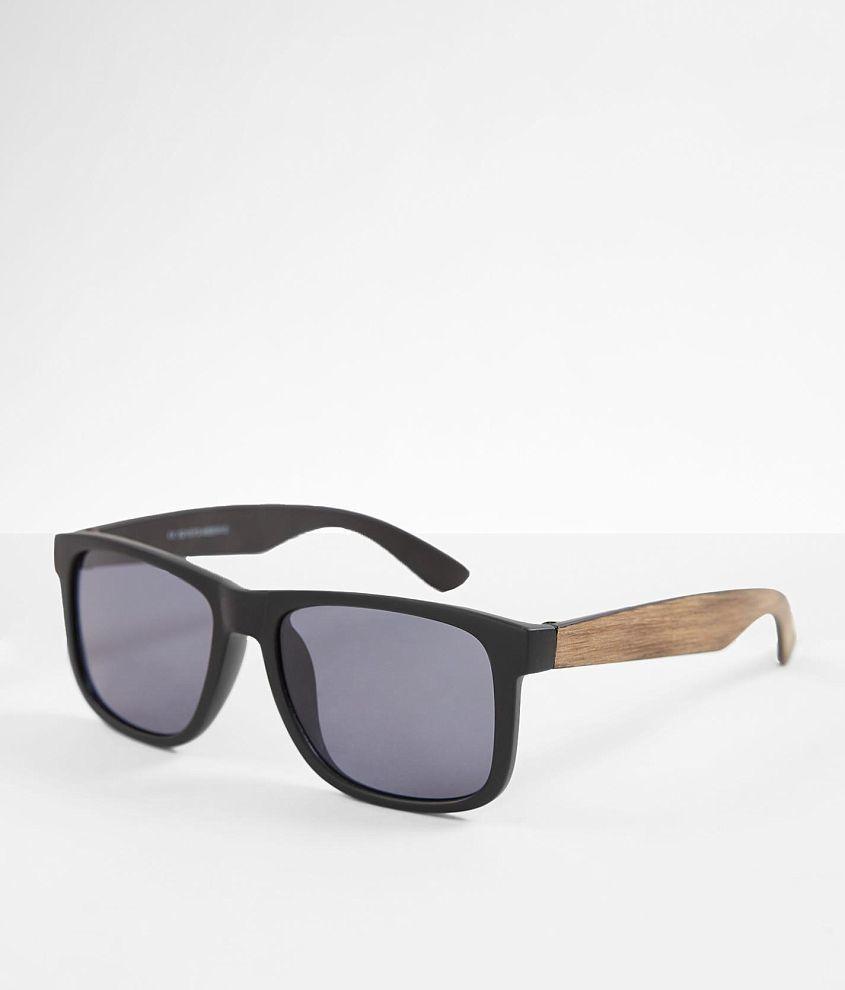 BKE Textured Woodgrain Sunglasses front view