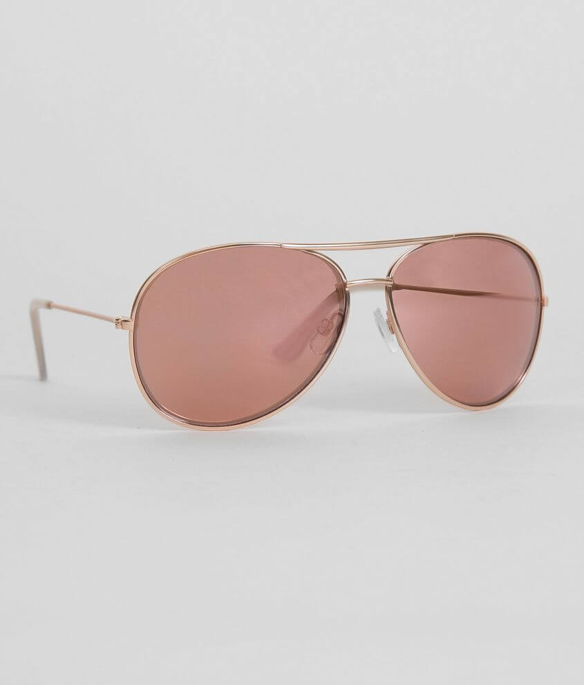 BKE Golden Aviator Sunglasses front view