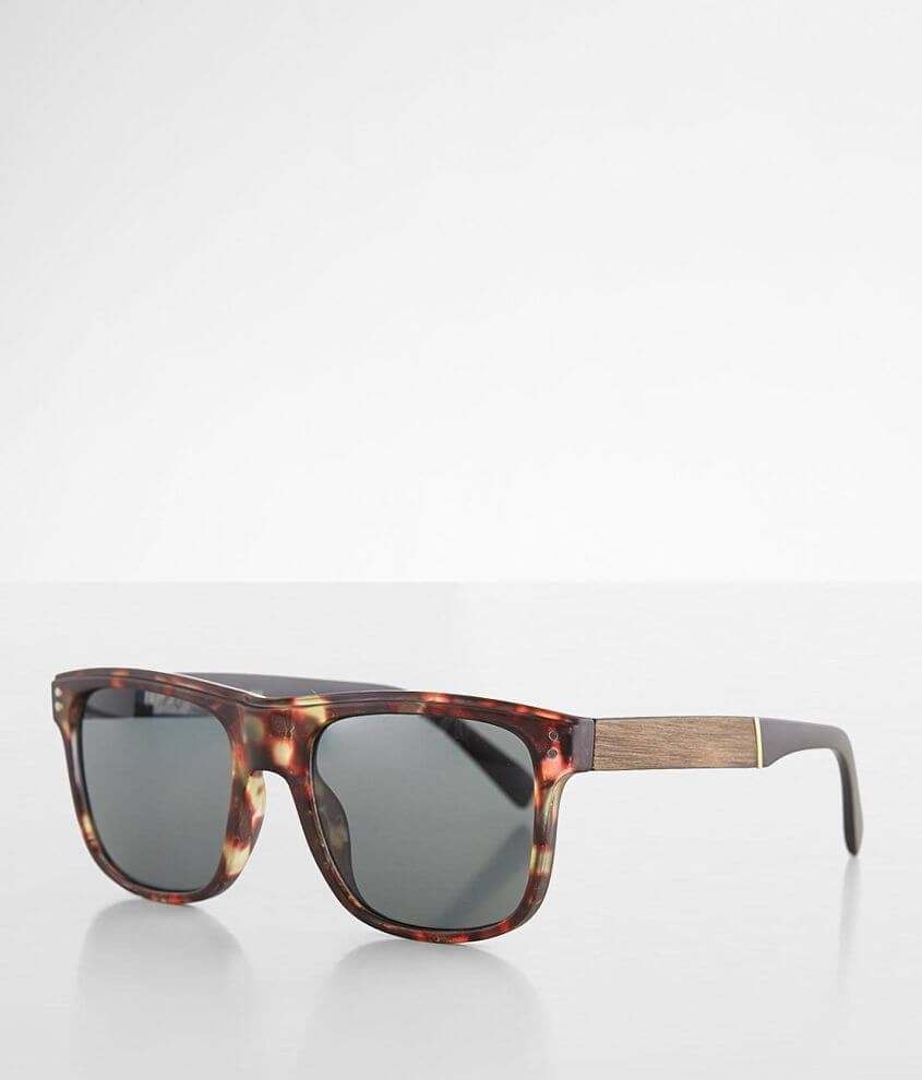 BKE Woodgrain Tortoise Sunglasses front view