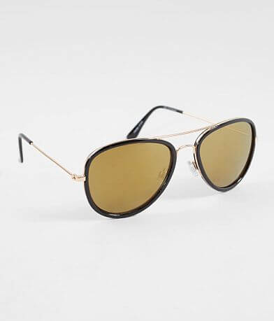 BKE Rimmed Aviator Sunglasses