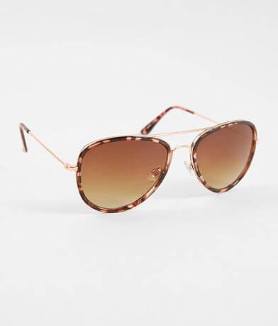 BKE Tortoise Rimmed Aviator Sunglasses