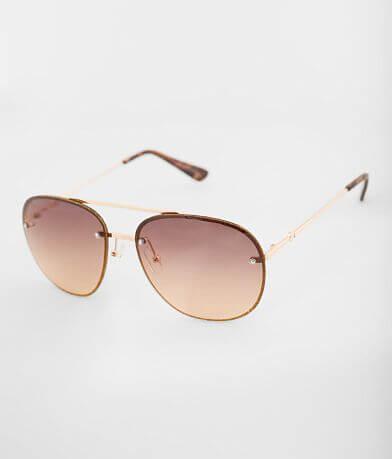 BKE Glitter Rimmed Aviator Sunglasses