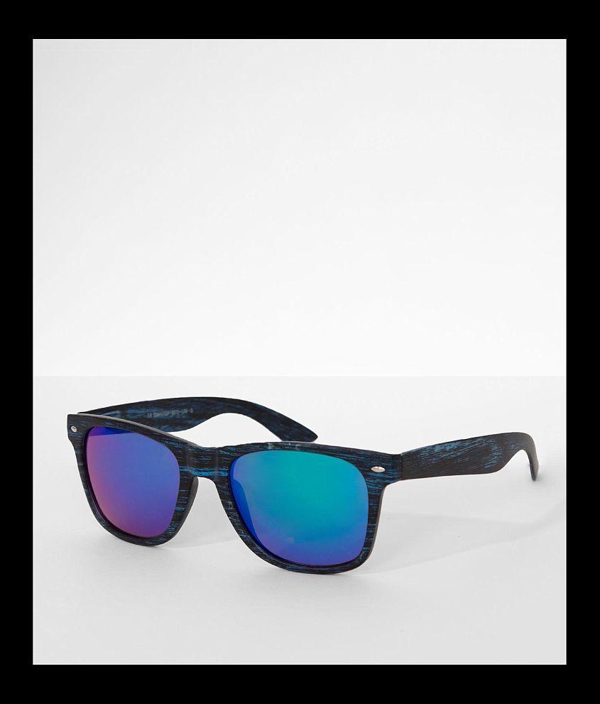BKE Blue Wood Sunglasses front view