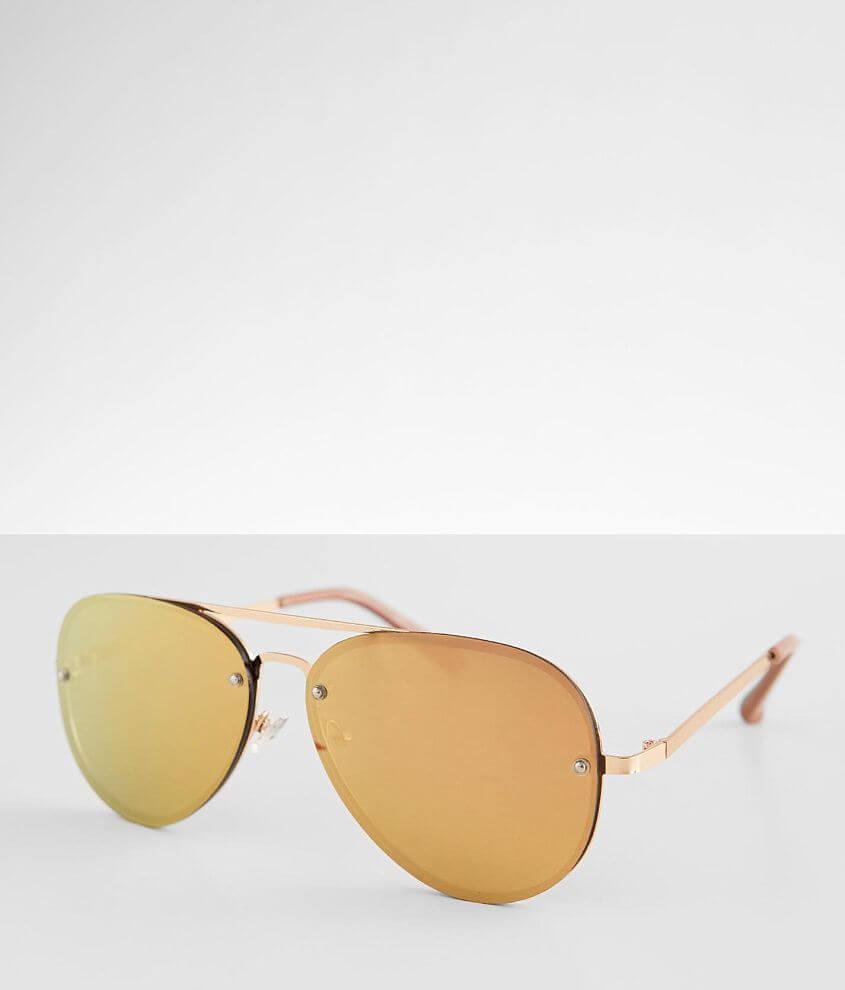 BKE Oversized Aviator Sunglasses front view
